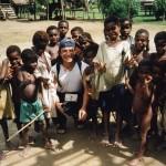 La spontaneità dei bimbi-Viallggio di Moim-PNG