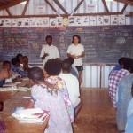 Lezione a Scuola-Villaggio di Aseki-PNG