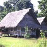 Abitazione sull'isola di Siar-PNG